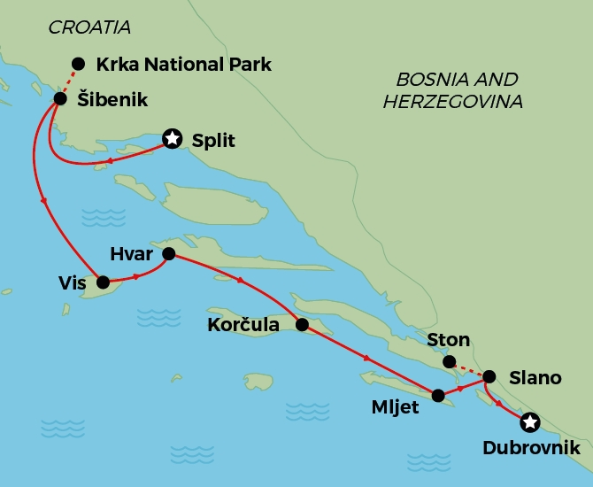 Map Signature Split to Dubrovnik670
