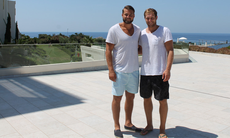 Steffen Weinhold and Jacob Heinl in Dubrovnik