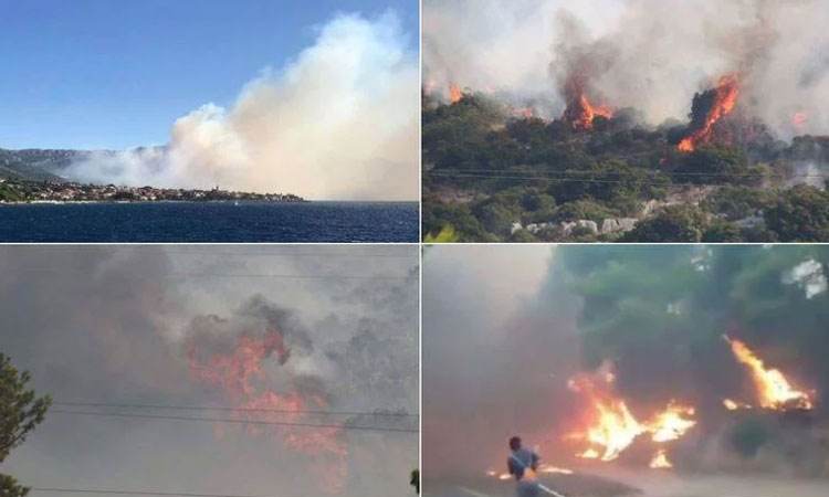 VIDEO Fire raging through Orebic guests evacuated roads closed