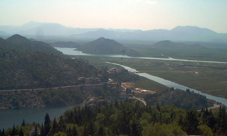 aerial neretva valley