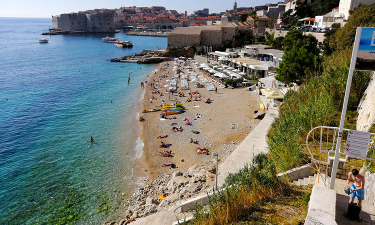 banje beach in dubrovnik in late october 2019