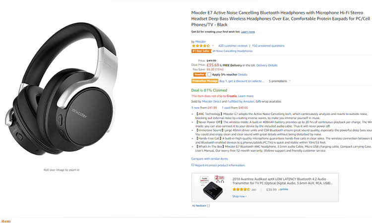 boxing day amazon deals headphones