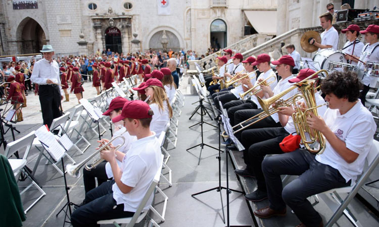 brass band playing in dubrovnik 2018