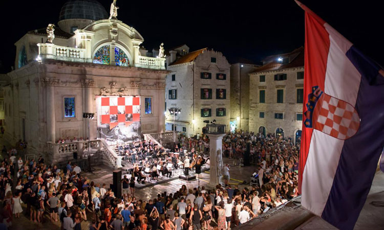concert in front of st blasi church dubrovnik