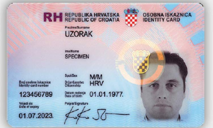 croatian id card 2018