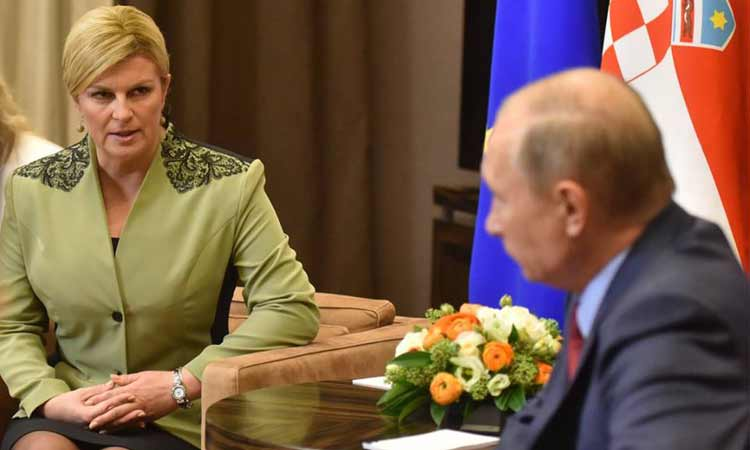 croatian president and putin