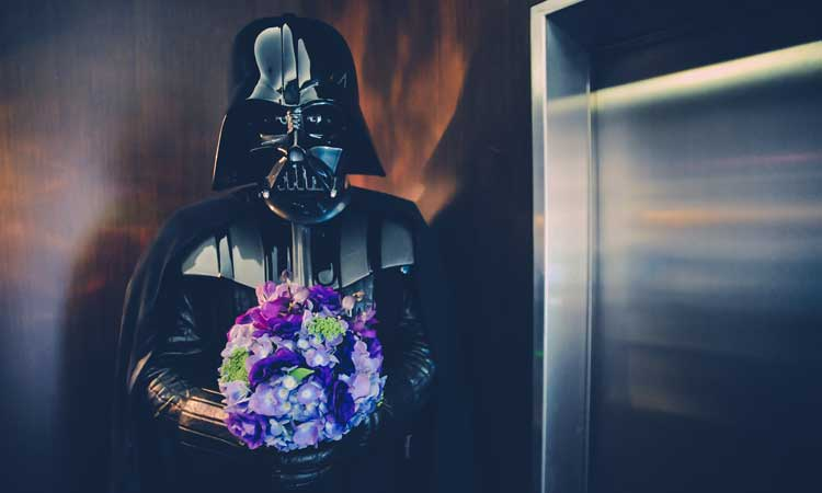 darth vader wedding