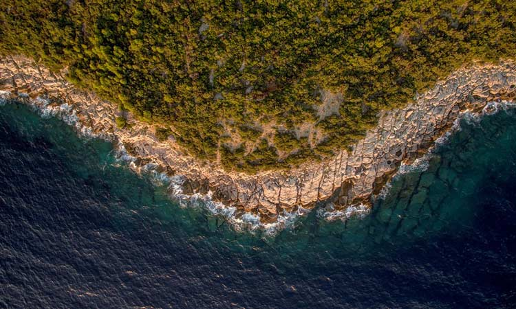 drone photo croatian coastline