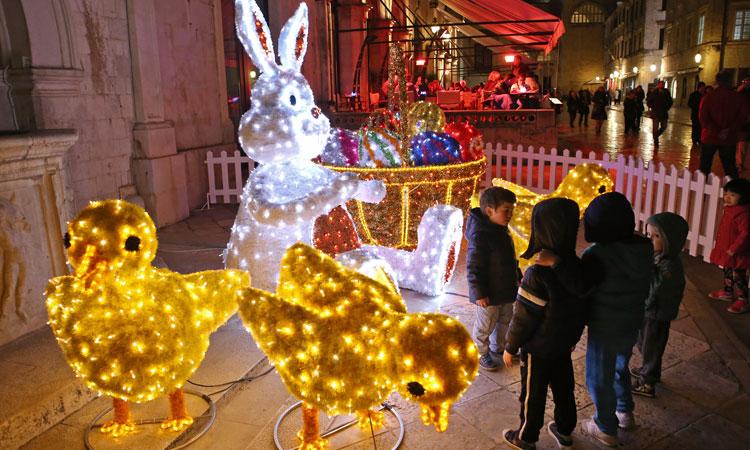 Easter Decorations Light Up Dubrovnik The Dubrovnik Times