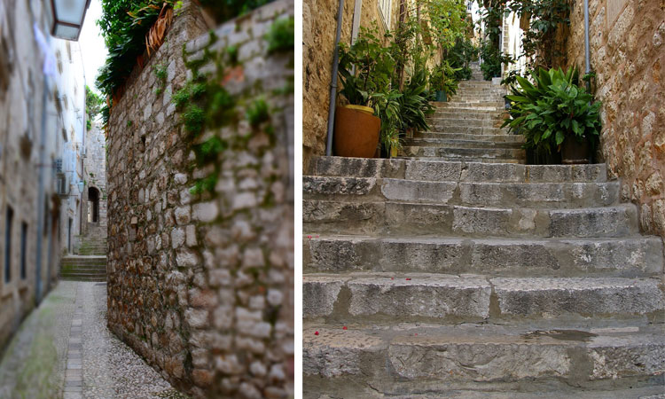 empty steps in dubrovnik