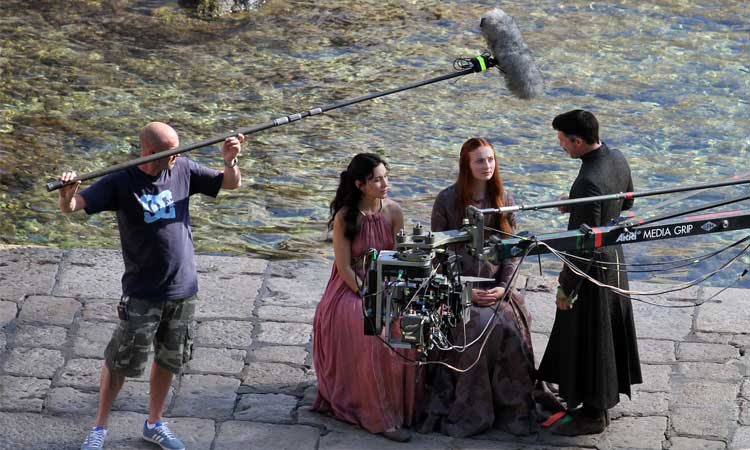 game of thrones filming on the dubrovnik waterfront