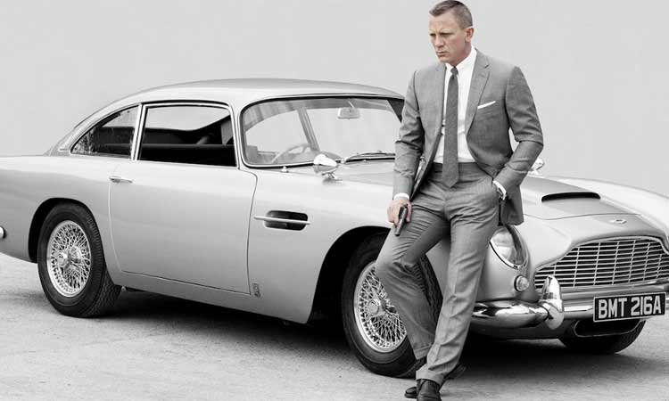 james bond with aston martin
