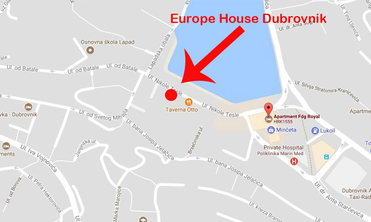 map for europe house dubrovnik