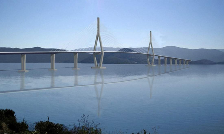 model of new peljesac bridge 2018