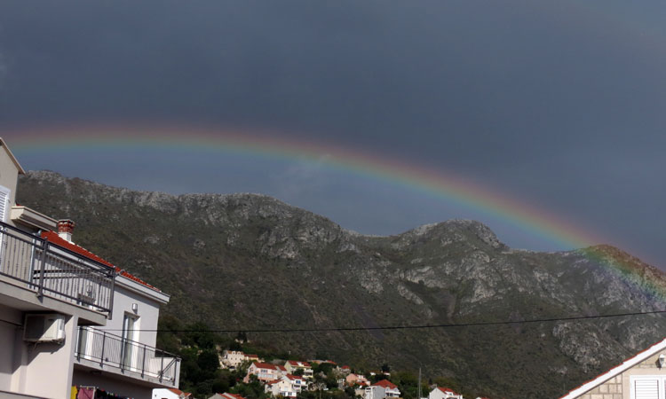 nutty rainbow over zupa dubrovnik