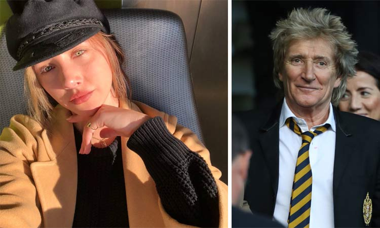 rod stewart with daughter in law