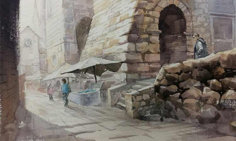 south korea artist dubrovnik drawing