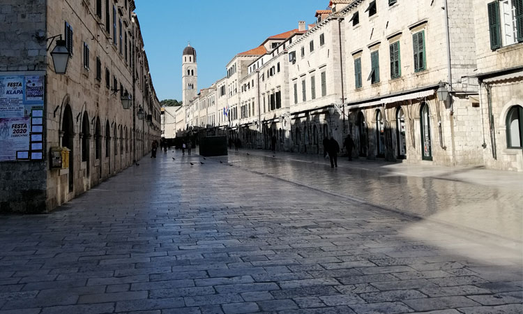 stradun in dubrovnik croatia in january 2020