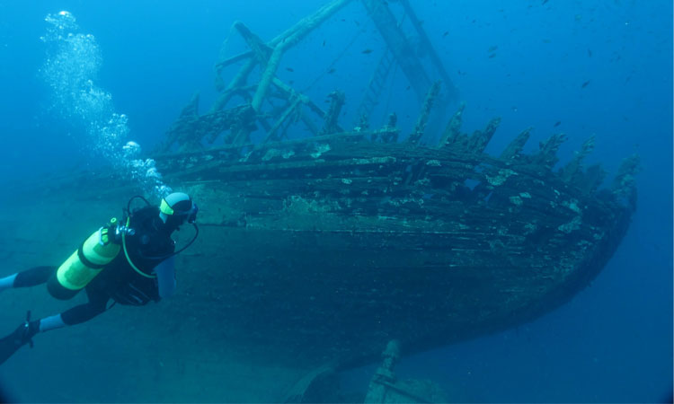 sunken ship croatia diving scuba