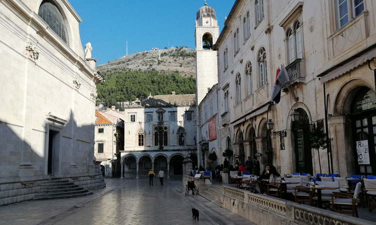 sunny january day in dubrovnik croatia without the croads