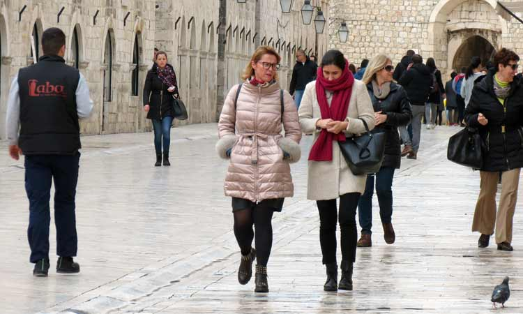 walk on the stradun 2018 feb