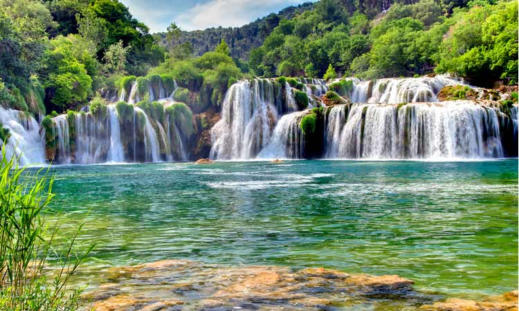 waterfalls near sibenik croatia