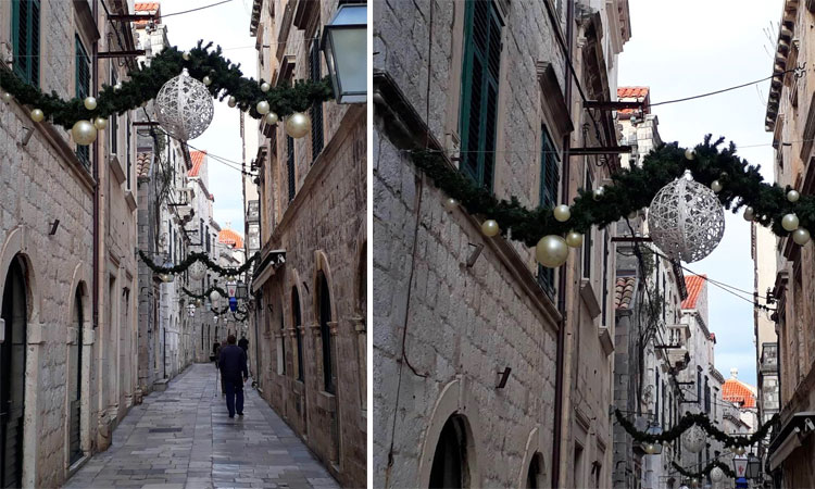 xmas decorations dubrovnik 2