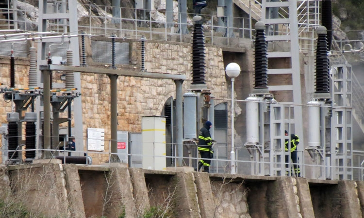 Fire in Dubrovnik hydroelectric power plant