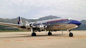Popular aircraft Douglas DC-6B visited Dubrovnik