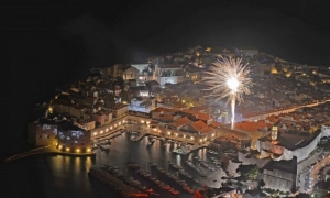 New Year Fireworks over Dubrovnik