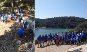 Eco-cleaning and humanitarian action held on the island of Mljet