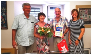 British couple awarded for their long-lasting love with Dubrovnik