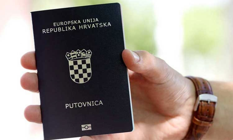 High ranking Croatian passport