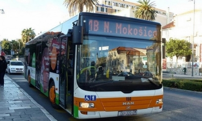 Public transport in Dubrovnik during the New Year's Eve