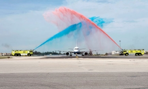 Big welcome for Croatia Airlines in Lisbon