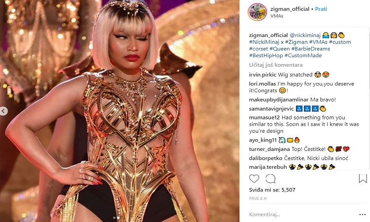 VIDEO - Nicki Minaj shines in the corset of the Croatian brand