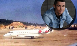 Ronaldo's private jet the most expensive of all the leading football stars waits at Dubrovnik airport