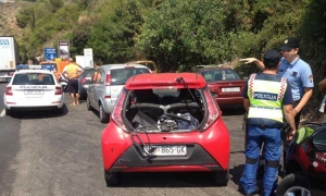 Four car accident on main Dubrovnik road