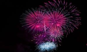Fireworks tonight in the Port of Gruz