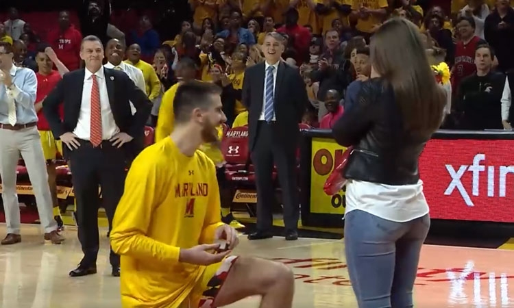 VIDEO – Croatian proposes to his girlfriend in front of thousands on American basketball court