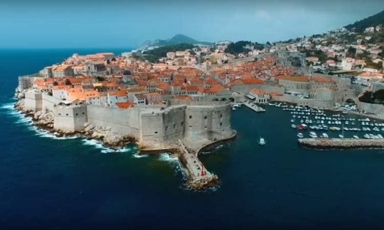 Above the walled city of Dubrovnik