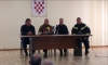 Defence Minister Damir Krsticevic praises the work of firefighters in Orebic