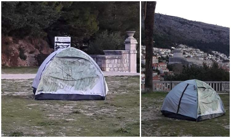 It's never too cold for camping in Dubrovnik