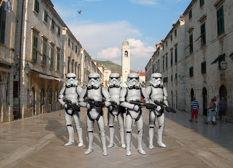 Our dream of Stormtroopers on the Stradun comes closer
