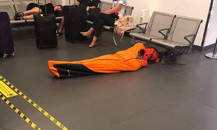 Why book an Airbnb when you can sleep at the airport