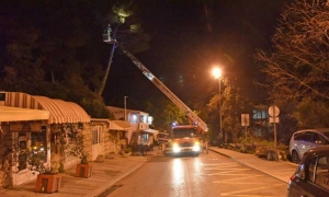 Dubrovnik Fire Brigade have busy evening as winds bring down tree