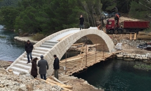 Mljet National Park constructs new stone bridge