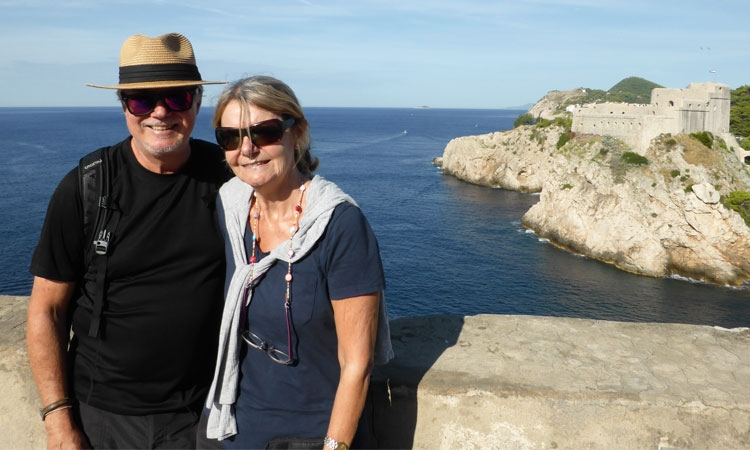 Jane and Duncan Dempster-Smith in Dubrovnik