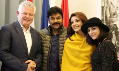 Mayor meets with producers and actors of latest Bollywood hit