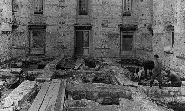 Building leveled in the Old City of Dubrovnik